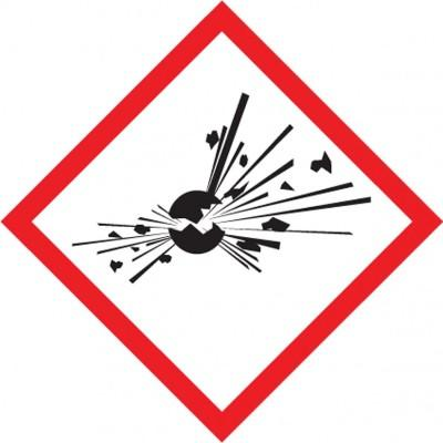 GHS Pictogram Label - Exploding Bomb