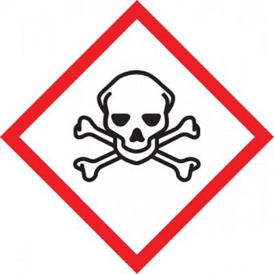 GHS Pictogram Label - Skull & Crossbones
