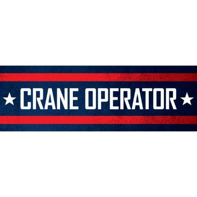 Crane Operator Hard Hat Sticker