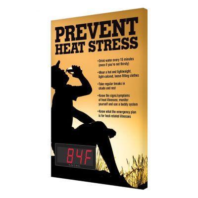 Prevent Heat Stress - Temperature Display Board