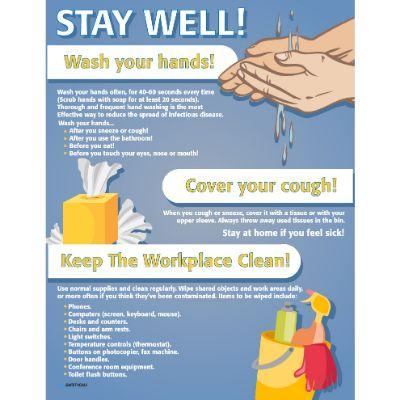Stay Well Wash Your Hands - COVID-19 Poster