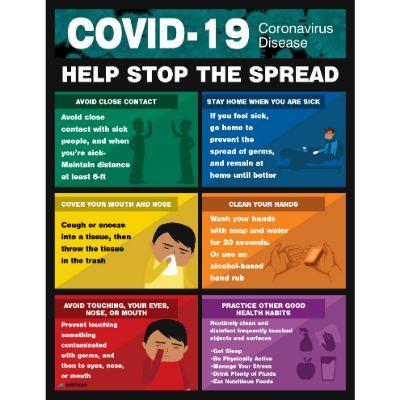 Help Stop the Spread - COVID-19 Poster