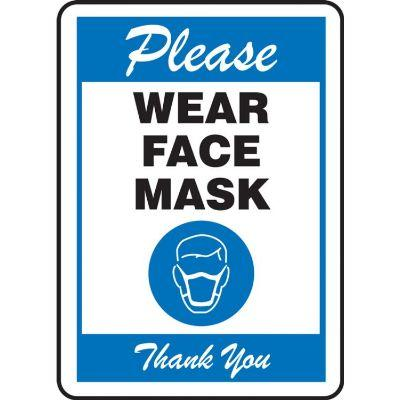 Please Wear Face Mask Thank You COVID-19 Sign