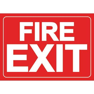 Fire Exit Sign Glow