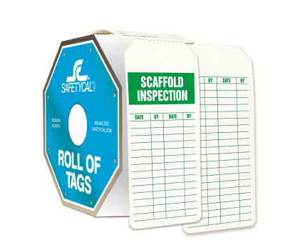 Scaffold Inspection Roll of Tags
