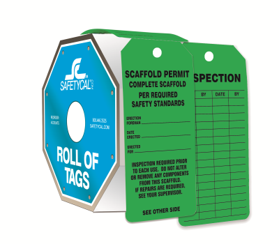 Scaffold Permit - Complete Scaffold Roll of Tags