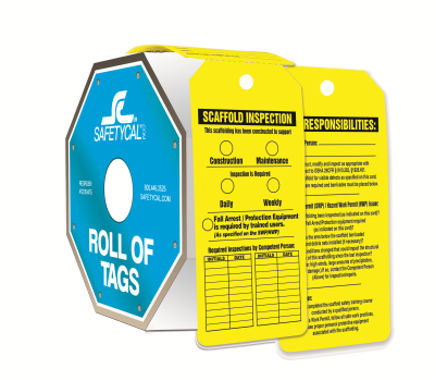 Scaffold Construction Inspection Roll of Tags