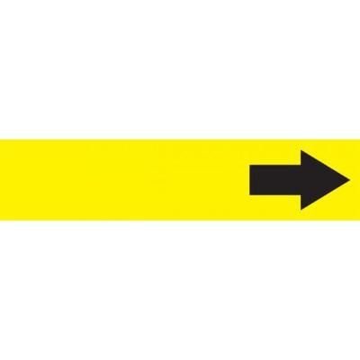 Arrow (Yellow Background) - Cling-Tite Pipe Marker