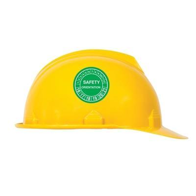 Safety Orientation Hard Hat Sticker | SAFETYCAL, INC