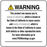 California Prop 65 Signs