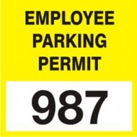 Cling Label Parking Permits